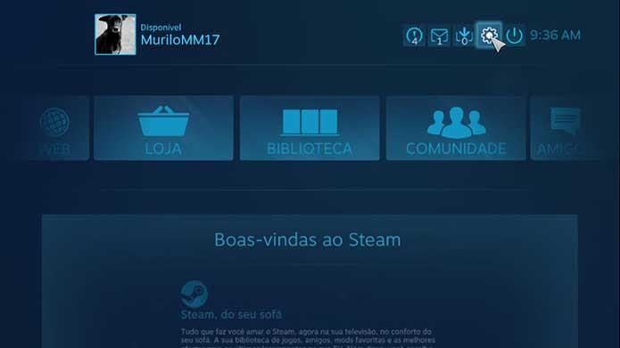 Vá até as configurações do Steam (Foto: Reprodução/Murilo Molina)