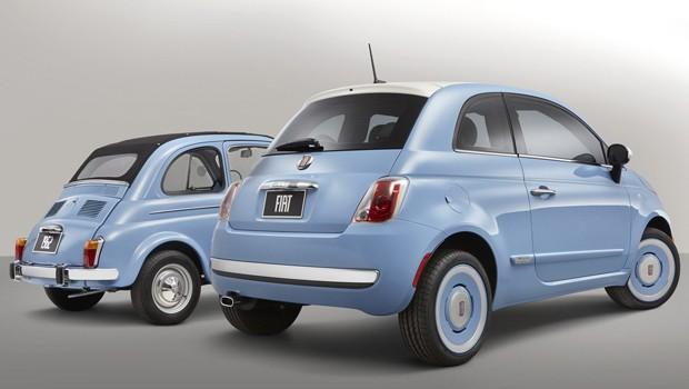 Fiat '1957 Edition' ao lado do modelo original, de 1957 (Foto: Divulgação)