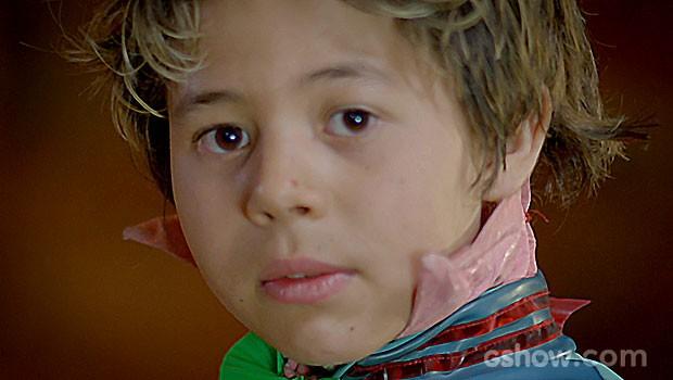 Serelepe não esconde sua tristeza e decide partir (Foto: Meu Pedacinho de Chão / TV Globo)
