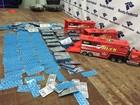 Brinquedos são abandonados com 8 mil comprimidos contrabandeados