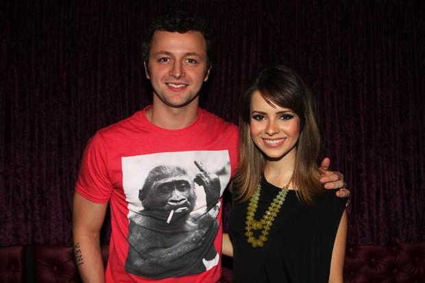 Sandy com o marido, Lucas Lima, em show em São Paulo (Foto: Leo Franco e Thiago Duran/ Ag. News)