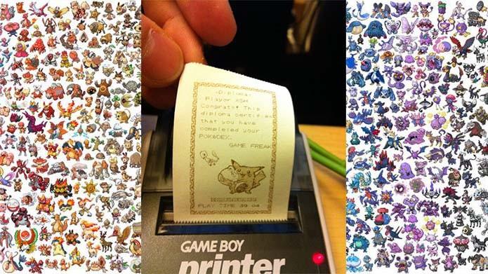 Diploma personalizado podia ser impresso com a Game Boy Printer (Foto: Reprodução/Murilo Molina)