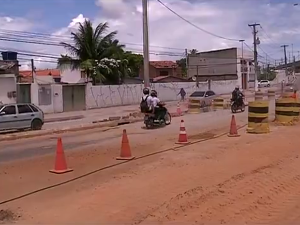 Em Natal, avenida João Medeiros Filho é liberada (Foto: Reprodução/Inter TV Cabugi)