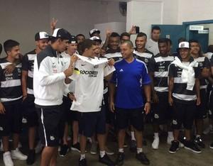 Santos visita a Apae em Lins (Foto: Divulgação)