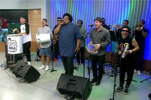Grupo do Bola no Jornal do Almoço (Foto: Reprodução/RBS TV)