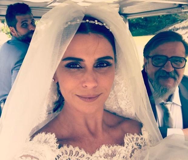 Bruno Gagliasso, Giovanna Antonelli e Luís Melo em bastidor de Sol Nascente (Foto: Reprodução/Instagram)