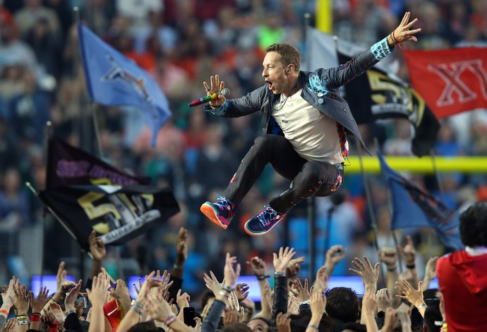 Coldplay show do intervalo super bowl 50 (Foto: Reuters)