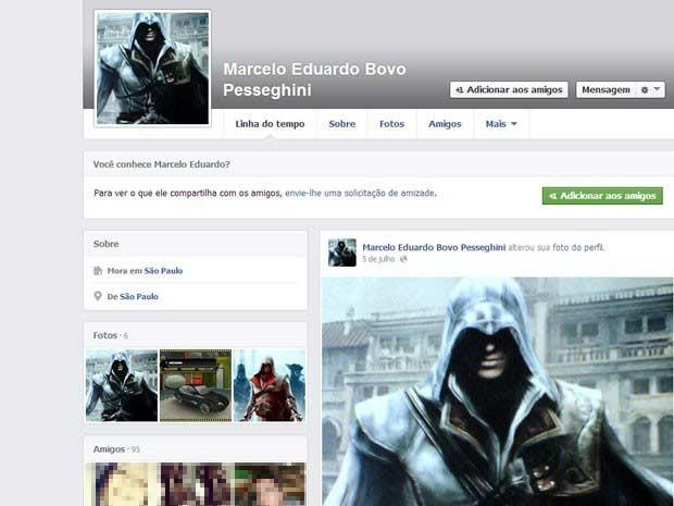 Imagem de Facebook de adolescente suspeito de matar familiares na Zona Norte de SP (Foto: Reprodução)