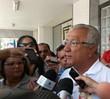 Governador de Sergipe vota em Aracaju (Flávio Antunes / G1)