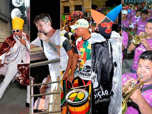 Montagem foto primeiro dia carnaval Salvador (Foto: Arte/G1)