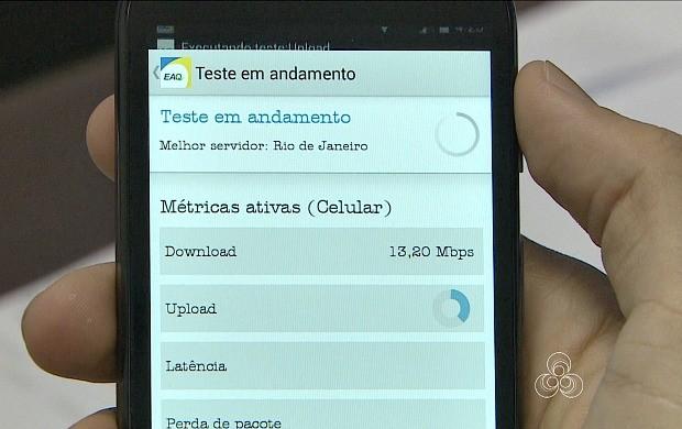 Aplicativo monitora qualidade do sinal de internet movel (Foto: Bom Dia Amazônia)