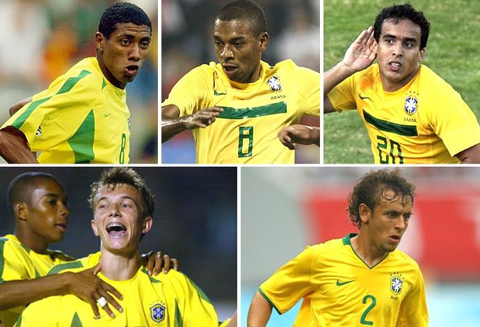 Montagem Jogadores Seleção (Foto: Globoesporte.com)