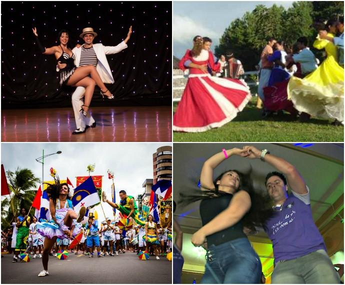 Danças Mistura musica maxixe samba frevo vanerão (Foto: Montagem sobre fotos de Divulgação, Reprodução e Jonathan Lins)