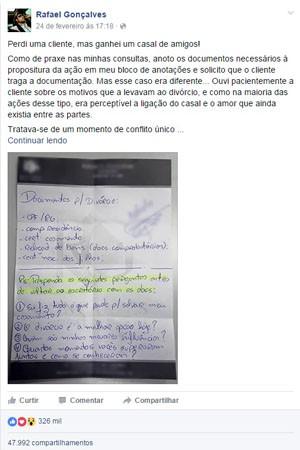 Advogado Rafael Gonçalves, São Sebastião do Paraíso (Foto: Reprodução Facebook)