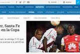 """Imprensa local vê vitória sobre o Inter como """"tábua de salvação"""" do Santa Fé"""