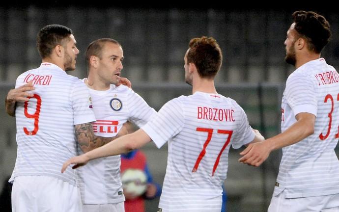 Mauro Icardi gol Inter de Milão verona (Foto: EFE)