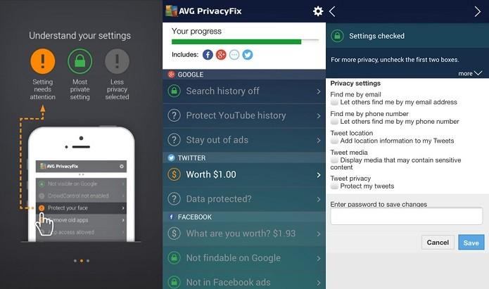 PrivacyFix agora que é capaz de mostrar qual o valor do usuário no Twitter (Foto: Divulgação/AppStore)