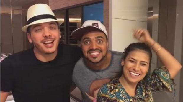 Wesley Safadão, Tirullipa e Simone (Foto: Reprodução/Instagram)