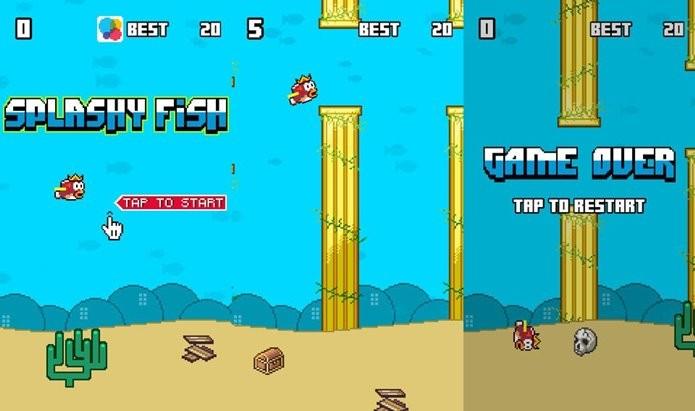 Inspirado em Flappy Bird, Splashy Fish é o jogo mais baixado da semana (Foto: Divulgação)