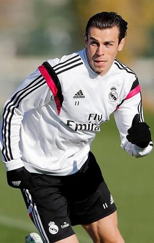 marcelo, chicharito e bale Treino do Real Madrid (Foto: Reprodução / Site oficial do Real Madrid)
