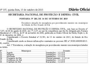 Diário Oficial da União publica decreto de emergência para o RS (Foto: Reprodução)