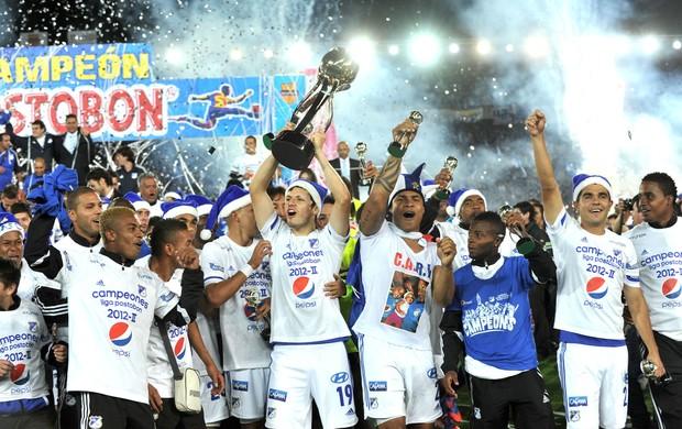 Millonarios comemora vaga na Libertadores (Foto: Agência AFP)