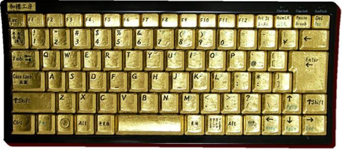 O teclado é 100% revestido com 100% de ouro puro (Foto: Divulgação)
