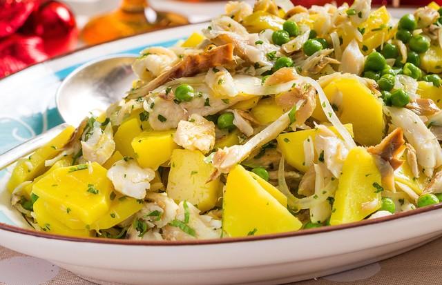 Salada de bacalhau com batata (Foto: Divulgação)