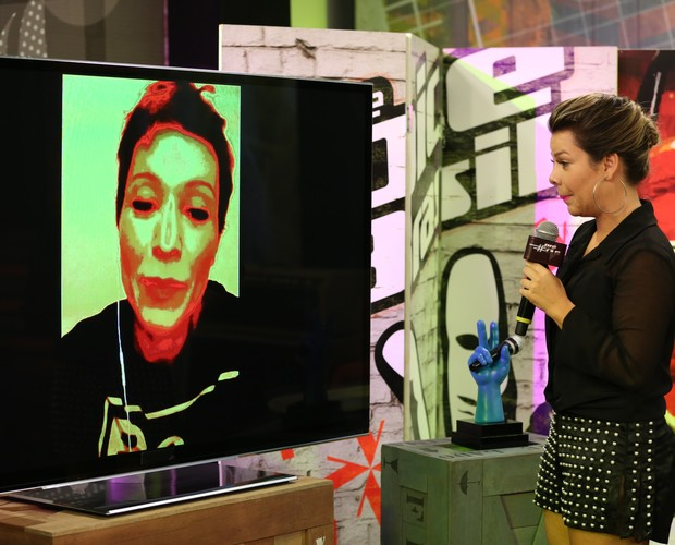 Patricia conta como é ver os participantes cantarem a sua música (Foto: Isabela Pinheiro/Gshow)
