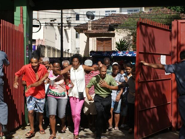 Corre corre no Luiz Viana Filho (Foto: Egi Santana/G1 Bahia)