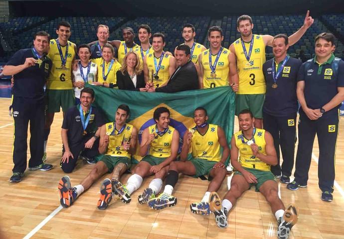 Brasil seleção sub-23 vôlei (Foto: Divulgação/CBV)