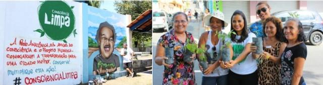 'Consciência Limpa' promove limpeza em igarapé da Zona Leste de Manaus, na 2ª edição de 2016 (Katiúscia Monteiro/Rede Amazônica)