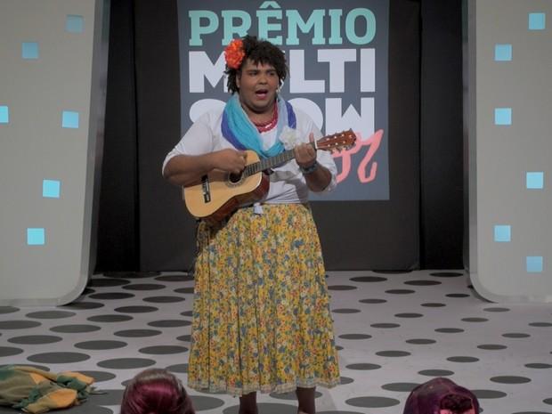 O último personagem de Paulo Vieira foi a própria mãe (Foto: Reprodução/Multishow)