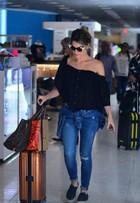 Giovanna Ewbank capricha no visual e nos acessórios de grife para viajar