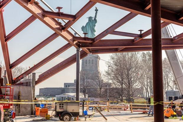Obras do novo Museu da Estátua da Liberdade já começaram (Foto: Divulgação)