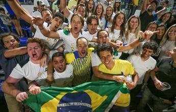 Melo e Soares levam susto, mas viram o jogo e colocam Brasil em vantagem