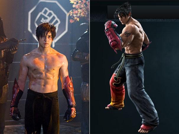 """Confira o personagem Jin no filme e no jogo """"Tekken Tag Tournament 2"""" (Foto: Divulgação / Reprodução / Namco)"""