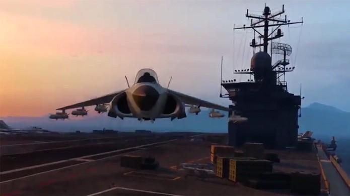 Veja como conseguir o avião Hydra no novo DLC dos assaltos Heists (Foto: Reprodução/SegmentNext)