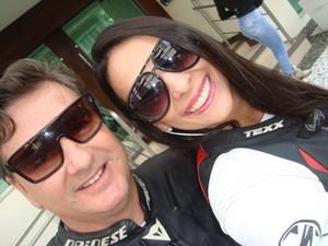 Casal tirou foto antes de ir a Rio do Sul, onde o acidente ocorreu (Foto: Arquivo Pessoal/Divulgação)