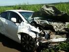 Acidente mata idoso e deixa dois jovens feridos na BR-452, em Goiás