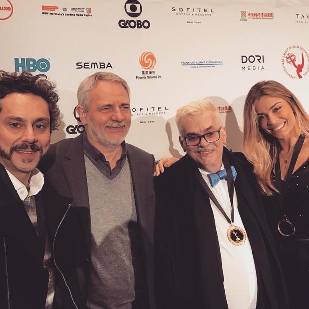Alexandre Nero, Carlos Henrique Schroeder, Walcyr Carrasco e Grazi Massafera (Foto: Reprodução do Instagram)