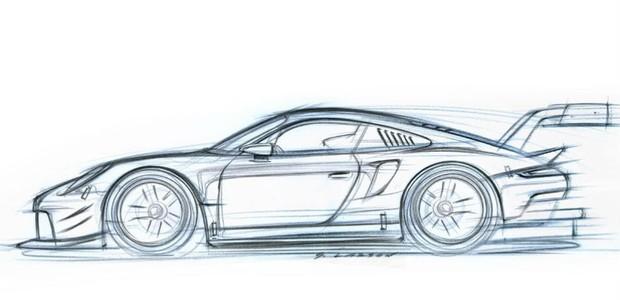 Teaser do Porsche 911 RSR (Foto: Divulgação)