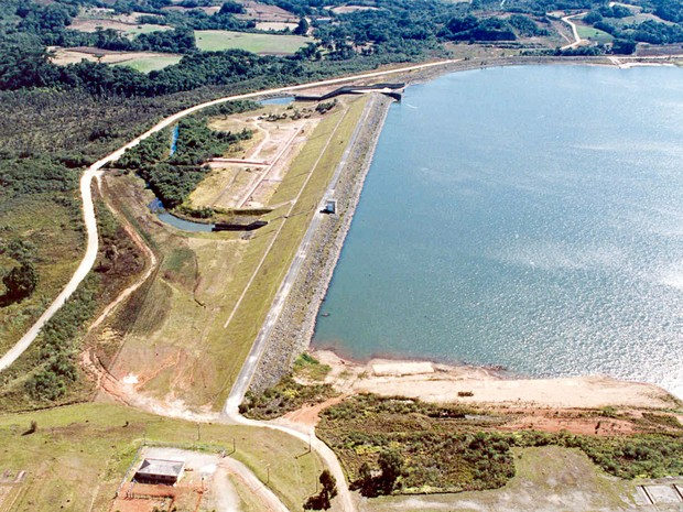 Barragem do Rio Passaúna é uma das principais do estado. (Foto: Sanepar/Divulgação)