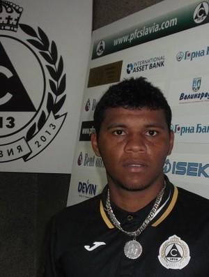 Diego, atacante capixaba do Slavia Sofia, da Bulgária (Foto: Marcelo Bonfim)