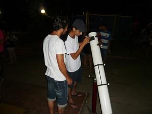 Clube de astronomia quer investir em ampliação para atender moradores (Foto: G1)