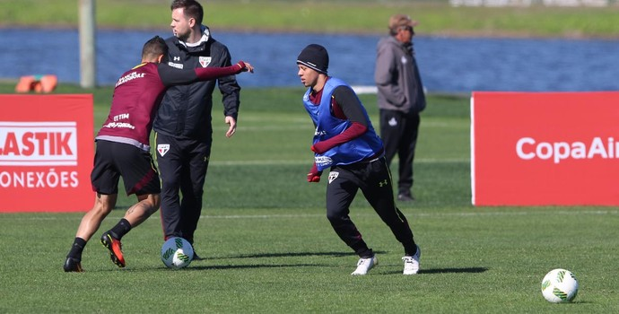Lucas Fernandes, meia do São Paulo em treino nos Estados Unidos (Foto: Érico Leonan / saopaulofc.net)