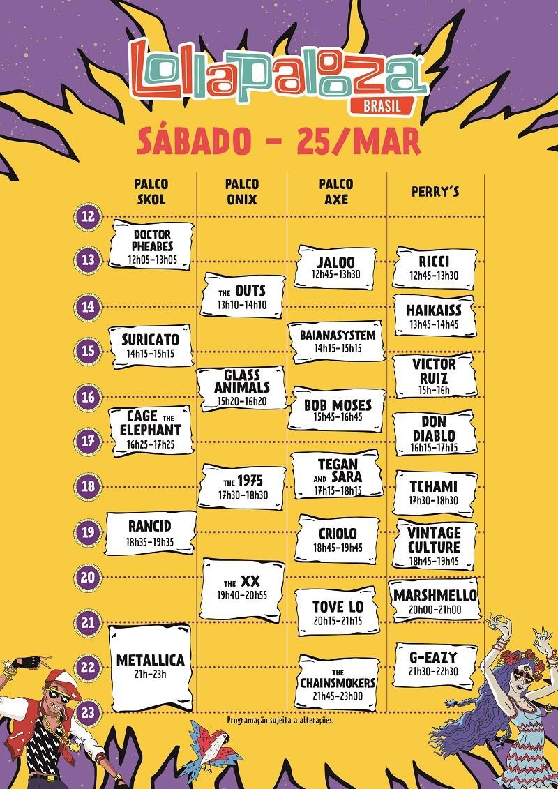 Sbado, no Lollapalooza Brasil 2017 (Foto: Divulgao)