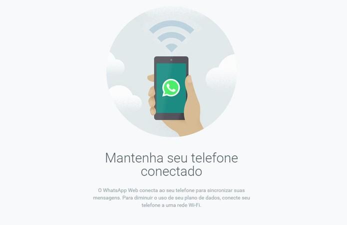 WhatsApp Desktop também precisa de um celular como o WhatsApp Web (Foto: Reprodução/Barbara Mannara)