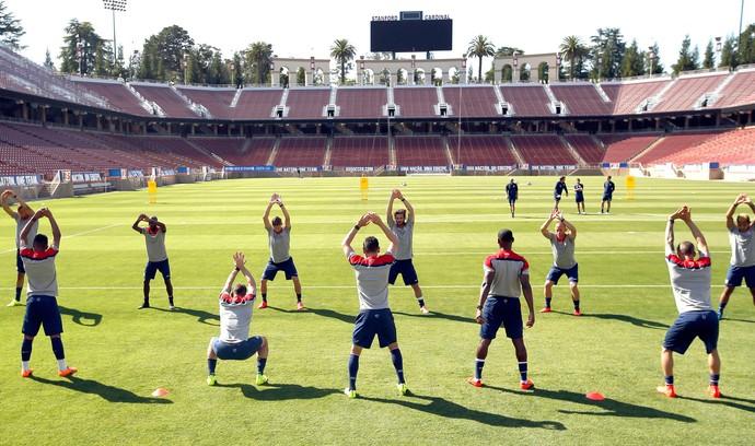 Treino Seleção Estados Unidos (Foto: Agência AP )