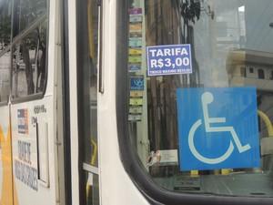 Tarifa em Mogi passa a custar R$3 nesta segunda (Foto: Carolina Paes/G1)